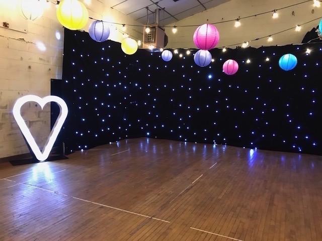 Black Starcloth – Twinkly Backdrop