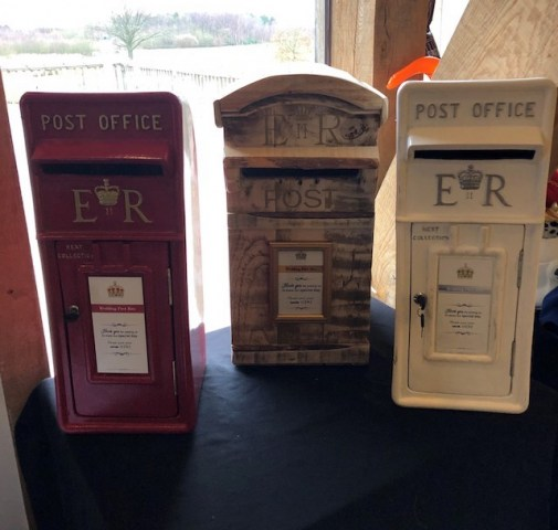 Red, Rustic & White Post Box