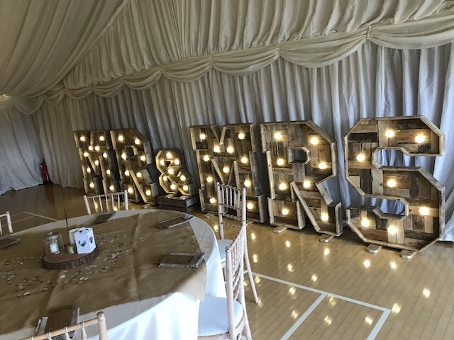 Rustic Light Up Letters