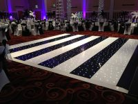 Black & White Stripped Starlight Dance Floor