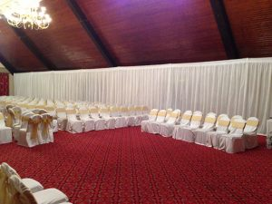 Wedding & Event White Pleated Drape Hire
