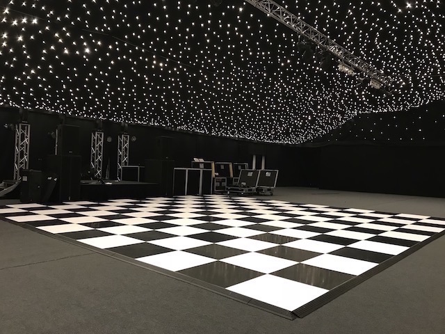 Black & White Dance Floor Hire