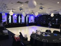 Gloss White Dance Floor Hire