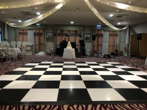 Black & White Chequered Dance Floor Hire