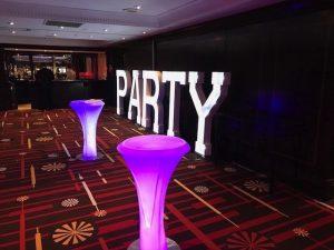 LED Poseur Tables Hire